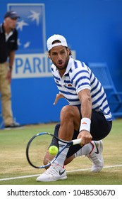 London, UK. 25 June, 2017. FINAL: FELICIANO LOPEZ (World No. 32) wins from MARIN CILIC (World No. 4), Aegon Tennis Queen's Club.