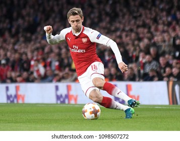 LONDON, UK - 26 APRIL, 2018: Nacho Monreal pictured during the UEL Semi-final between Arsenal FC and Atletico Madrid held at Emirates Stadium