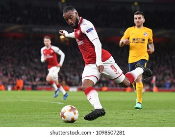 LONDON, UK - 26 APRIL, 2018: Alexandre Lacazette pictured during the UEL Semi-final between Arsenal FC and Atletico Madrid held at Emirates Stadium