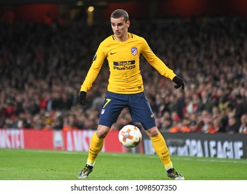 LONDON, UK - 26 APRIL, 2018: Antoine Griezmann pictured during the UEL Semi-final between Arsenal FC and Atletico Madrid held at Emirates Stadium