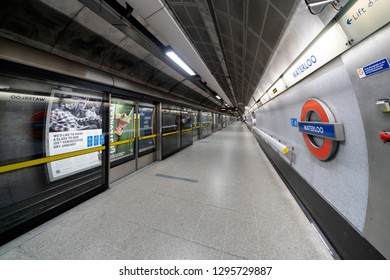 London, UK. 26th January 2019. London Waterloo station on the Jubilee Line. This is the only line on the underground network to have safety doors on the platforms