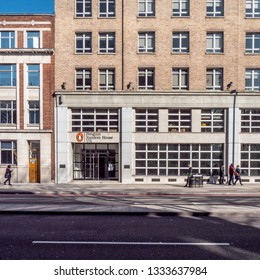LONDON, UK - 27 FEBRUARY 2019: The offices to the Penguin Random House publishing company found in Pimlico, Central London.