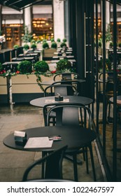 London, UK - 29 Jan 2018: Quiet coffee for two. Central London coffee shop.