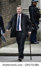 London, UK. 29 Januari, 2019. David Gauke MP, Lord Chancellor and Secretary of State for Justice, arrives at the Cabinet meeting.