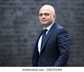 London, UK. 29 Januari, 2019. Sajid Javid MP, Secretary of State for the Home Department, arrives at the Cabinet meeting.