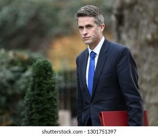 London, UK. 29 Januari, 2019. Gavin Williamson CBE MP, Secretary of State for Defence, arrives at the Cabinet meeting.