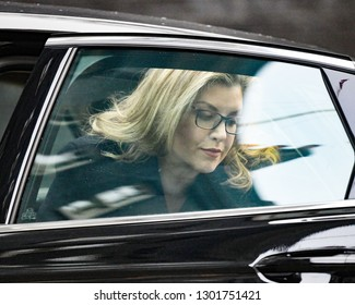 London, UK. 29 Januari, 2019. Penny Mordaunt MP, Secretary of State for International Development, Minister for Women and Equalities, arrives at the Cabinet meeting.