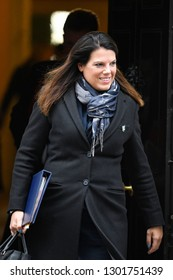 London, UK. 29 Januari, 2019. Caroline Nokes MP, Minister of State for Immigration, leaves the Cabinet meeting.