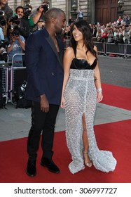 London, UK, 2nd September 2014: Kim Kardashian and Kanye West attend the GQ Men of the Year awards at The Royal Opera House in London, UK.