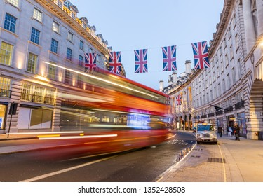 London, UK- 3, May 2018 - Regent Street in London in the evening