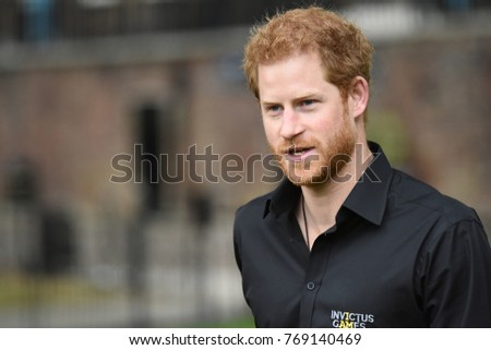 London, UK. 30 May, 2017. Prince Harry, Patron of the Invictus Games Foundation, attends the launch of the team selected to represent the UK at the Invictus Games Toronto 2017.
