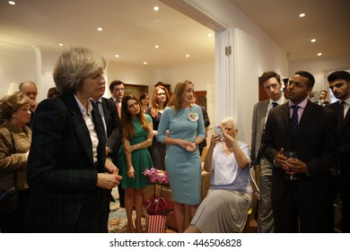 London, UK, 30th June, 2016. Theresa May takes questions from Hampstead and Kilburn constituents