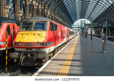 London, UK. 3rd June 2018. Virgin Trains East Coast Intercity 225 set is about to depart Kings Cross station for Scotland