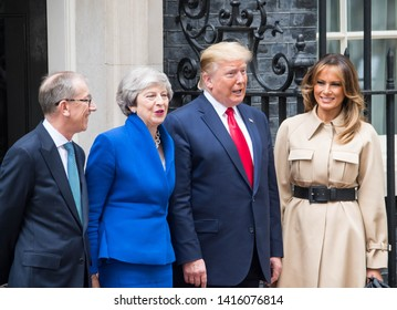 London, UK. 4th June, 2019. Trump meets May on day two of the US president and First Lady's three-day State Visit to the UK. Michael Tubi / Alamy Live News