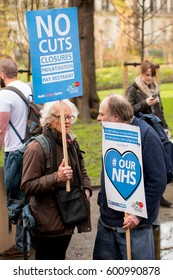 London, UK. 4th March 2017. EDITORIAL - # OUR NHS rally - Thousands turn out for the national demonstration in central London, to defend the NHS against government cuts, closures and privatisation.