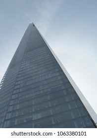 LONDON/ UK- 6 APRIL, 2018: The shard tower at London bridge, is the tallest building in the united kingdom, which stands at 309.7 metres high.