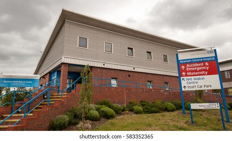 LONDON, UK - 6 JUNE 2005: Newham General Hospital, London, UK. Entrance to the NHS Walk-in Centre within the Newham General Hospital complex in East London, UK.