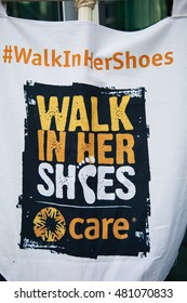 London, UK 6 March 2016 Hundreds of women take part in International Women's A Walk In Her Shoes orgainzed by CARE International UK as part of solidarity with women worldwide.