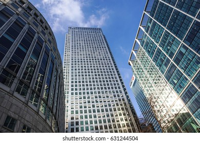 London, Uk - 6th April 2017: HSBC bank HQ in the city of London. HSBC is one of the UKs largest retail and investment banks.