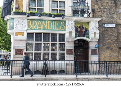 London, UK - 7 June 2017: The Blackfriar Pub, Queen Victoria Street. A traditional British Public House built in 1875 on the site of a medieval Friary, and subsequently remodelled in Art Nouveau style