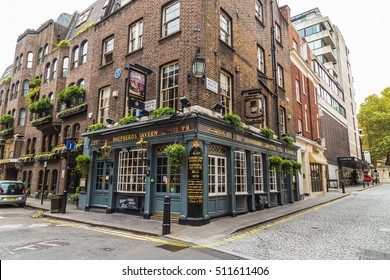 LONDON, UK - 8TH OCTOBER 2016: The outside of Shepherds Tavern Pub in Mayfair, London during the day