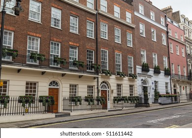 LONDON, UK - 8TH OCTOBER 2016: The outside of architecture in Mayfair London during the day.
