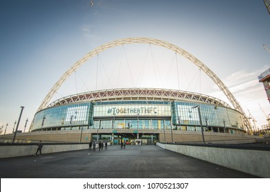 London, UK – 9 December, 2017: Wembley stadium in London, UK. It's a football stadium of England national football team