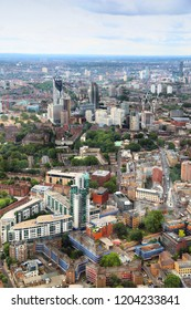 London, UK - aerial view of Elephant And Castle area in Southwark.