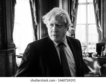 LONDON, UK - Apr 19, 2017: Boris Johnson during a working meeting in London with President of Ukraine