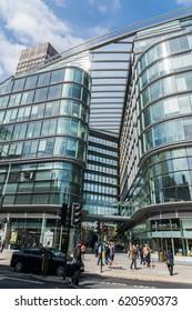 London, UK - April 11th, 2017: Shopping mall, Cardinal Place, Victoria Street London