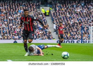 London, UK - April 13 2019: Elias Kachunga of Huddersfield Town during the Premier League between Tottenham Hotspur and Huddersfield Town at Tottenham Hotspur Stadium