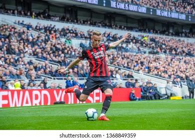 London, UK - April 13 2019: Florent Hadergjonaj of Huddersfield Town during the Premier League between Tottenham Hotspur and Huddersfield Town at Tottenham Hotspur Stadium