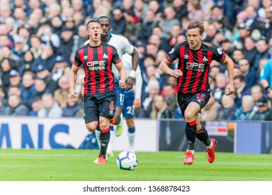 London, UK - April 13 2019: Chris Lšwe of Huddersfield Town  during the Premier League between Tottenham Hotspur and Huddersfield Town at Tottenham Hotspur Stadium