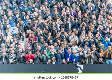 London, UK - April 13 2019: Victor Wanyama of Tottenham Hotspur during the Premier League between Tottenham Hotspur and Huddersfield Town at Tottenham Hotspur Stadium