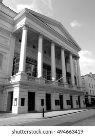London, UK, April 19, 2009 :  Black and white image of the Royal Opera House in Covent Garden which is the home of the Royal Opera and the Royal Ballet