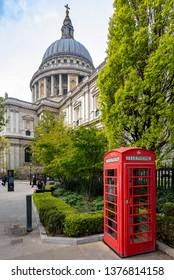 London, UK - April 20, 2019: St Paul's Cathedral in London, UK.