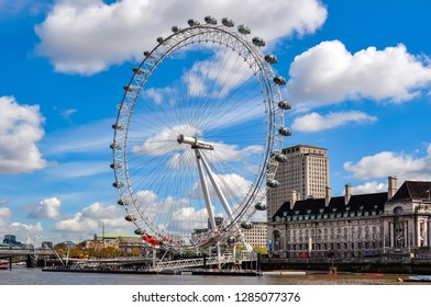 London, UK - April 2018: London Eye (Millenium wheel)