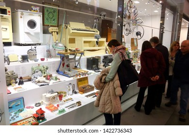 LONDON, UK - APRIL 22, 2016: Visitors admire London Science Museum, UK. With almost 2.8 million annual visitors it is the 5th most visited museum in the UK.