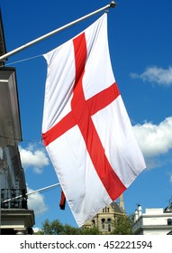 London, UK, April 26 2009 - St George's Cross flag of England