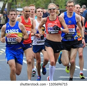 London, UK, April 26th 2015 : Paula Radcliffe in the London Marathon