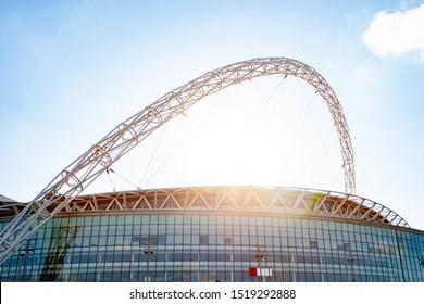 LONDON, UK - APRIL 5, 2013. The Football League Trophy 2013 Final Match day at WEMBLEY STADIUM.