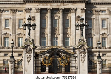 LONDON, UK - APRIL 7: Buckingham Palace which will be the starting point of the royal wedding procession to be held on Friday 29th April, April 7, 2011 in London, United Kingdom
