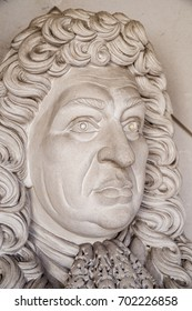 LONDON, UK - AUGUST 11TH 2017: Sculpture of famous administrator of the navy of England and Member of Parliament Samuel Pepys, located at the Guildhall Art Gallery in London, UK, on 11th August 2017.