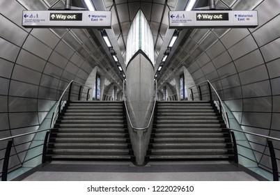 London UK - August 13, 2017: Southwark London Underground Tube Station