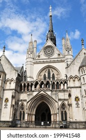 LONDON, UK - AUGUST 14, 2011: Architecture of the Royal Courts of Justice, a court building in London which houses both the High Court and Court of Appeal of England and Wales.