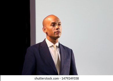 London / UK – August 15, 2019: Liberal Democrat MP Chuka Umunna gives a speech at an event in central London