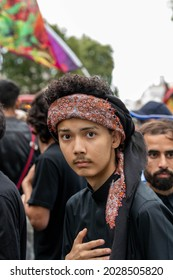 London UK August 19th 2021 A large religious procession commemorating the memory of Hussain who was the grandson of the prophet Mohammed. Hussain was martyred on this day Ashura day