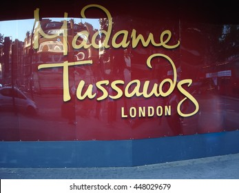 London, UK - August 21, 2011: The Building detail of Madame Tussauds in London UK Europe