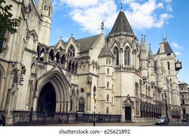 London, UK, August 27, 2007 : Royal Courts of Justice in The Strand which is England and Wales highest civil legal law courts and a popular tourist attraction