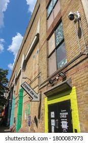 London, UK - August 3 2020: Peckham Levels entrance in South London, UK
